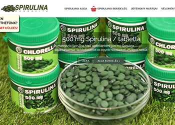 Mannavita Spirulina alga tabletta