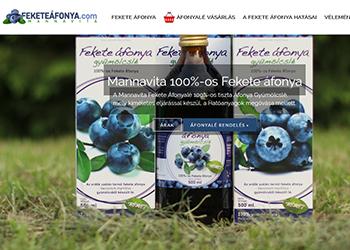 Mannavita 100%-os fekete áfonyalé